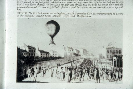 A very early hot air balloon.