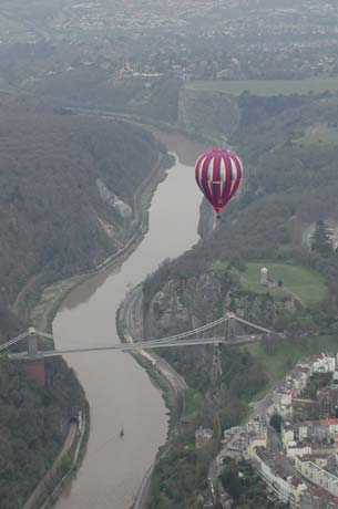 Bridges, rivers and waterways are often used by balloonists for navigation during a hot air balloon ride.