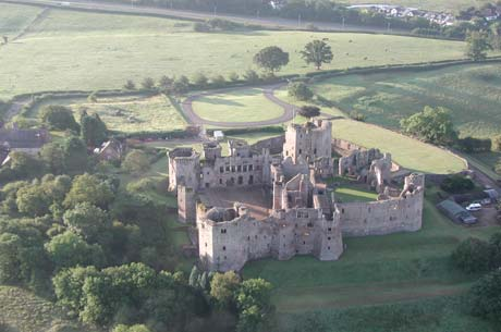 Hot air balloon pilots often use landmarks such as stately homes and castles to help them navigate.