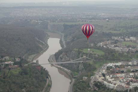 During hot air balloon rides, bridges, rivers and waterways are often used as navigational aides.